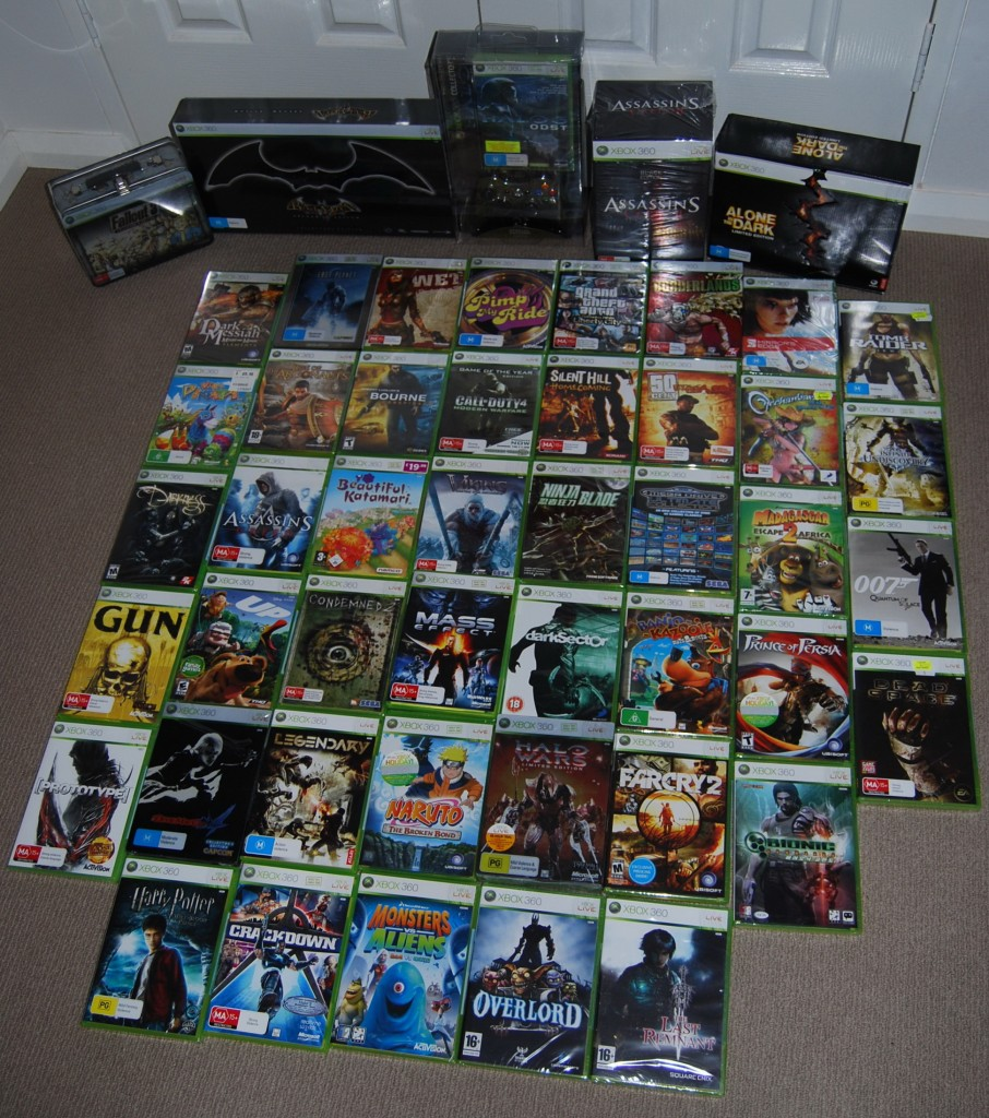 Unpayed Xbox 360 Games