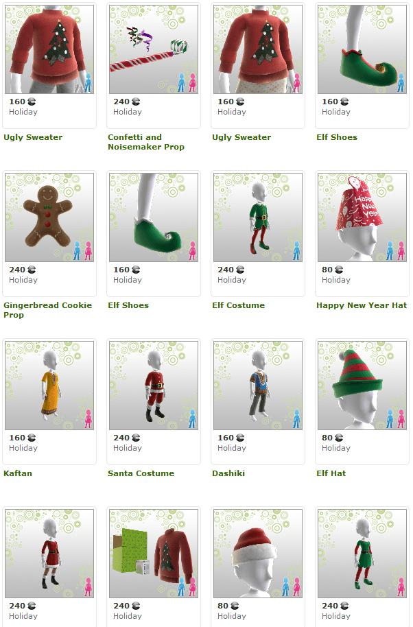ChristmasThemedItems-XboxliveAvatars