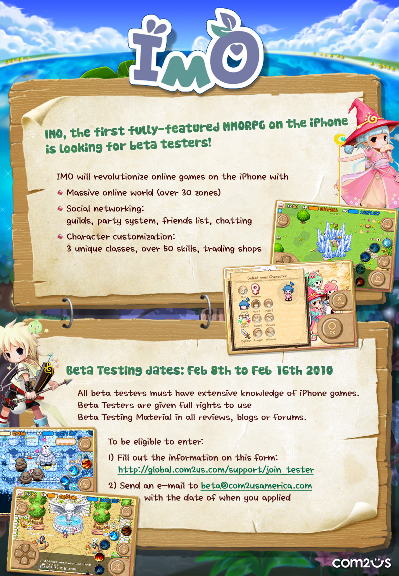 BETA TESTERS NEEDED for new MMORPG for the APPLE IPHONE