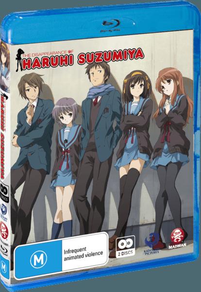 The Disappearance of Haruhi Suzumiya The Movie Bluray
