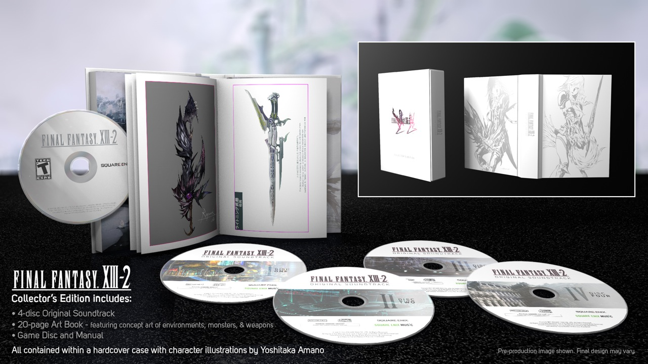 Final Fantasy Xiii 2 Collector S Edition Comes With 4