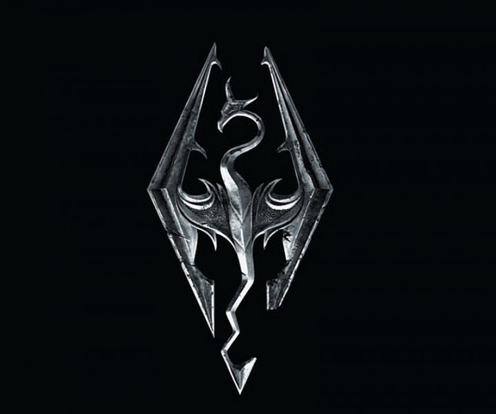 Skyrim logo dragon