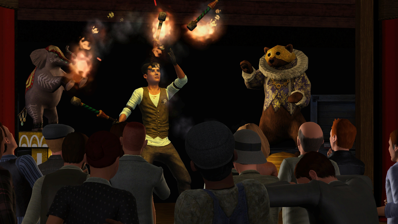 It's Showtime for the Sims! New acrobatic screenshots