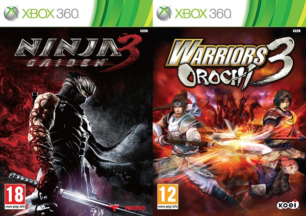 Ninja Gaiden 3 And Warriors Orochi 3 Box Arts Finalized Capsule