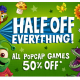 Half off download games on PopCap.com