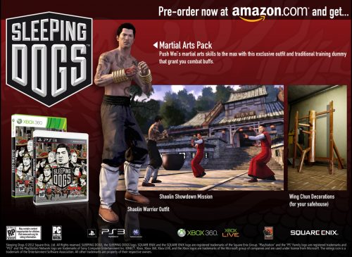Sleeping Dogs set for release on August 14th, pre-order bonuses revealed