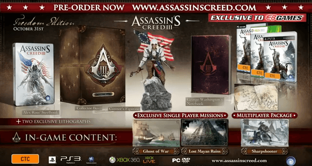Assassin's creed iii freedom edition – video game shelf.