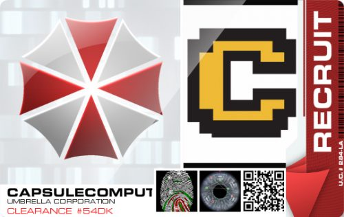 Get your own Umbrella Corporation Recruitment Badge!