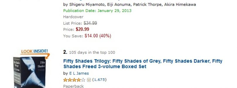 Hyrule Historia Sells More Than 50 Shades of Gray