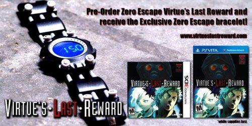 Pre-Order Zero Escape: Virtue's Last Reward from Amazon and get a wristwatch
