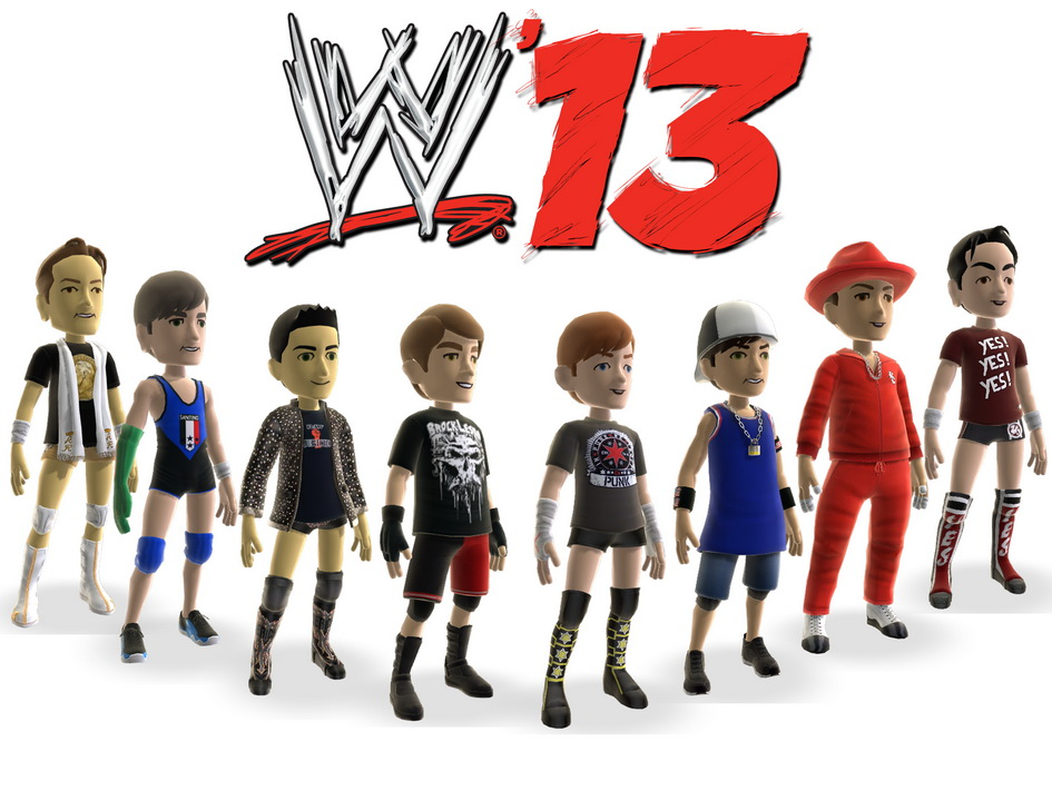 WWE '13 Avatar Items on XBOX Live Marketplace