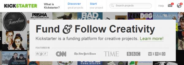 kickstarter-frontpage