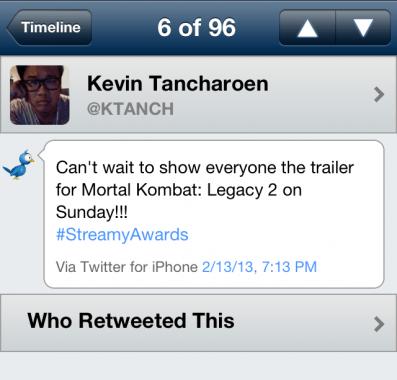 Kevin-Tancharoen-Tweet