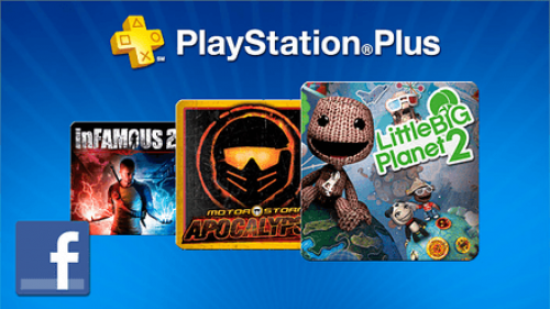 """Like"" PlayStation on Facebook for a free month of PS Plus"