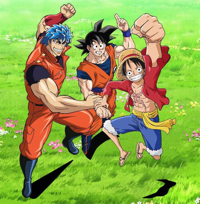 Dragon Ball Z X One Piece X Toriko Crossover Anime Visual