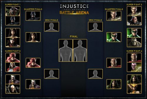 The Quarter-Finals of Injustice: Gods Among Us' Battle Arena are Set