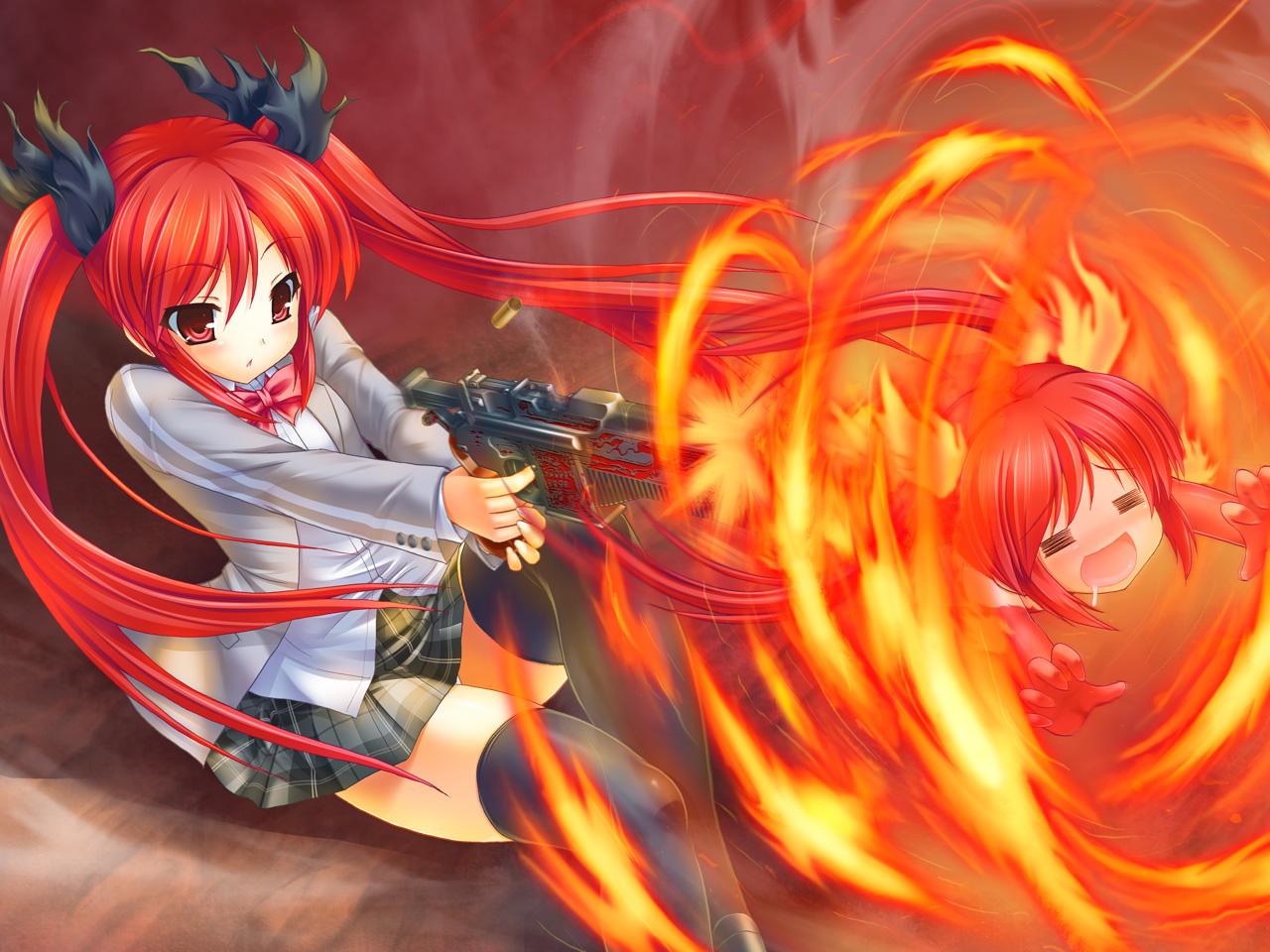 Anime girl of the week kuuko haiyore nyaruko san - Anime girls with fire ...
