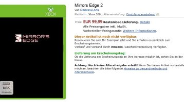 Mirror's Edge 2 Listing Surfaces on Amazon Germany