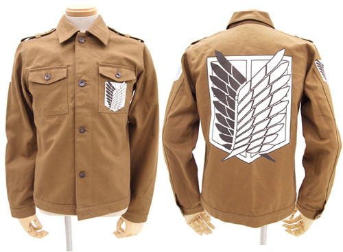 the attack on titan military jacket s re release capsule. Black Bedroom Furniture Sets. Home Design Ideas
