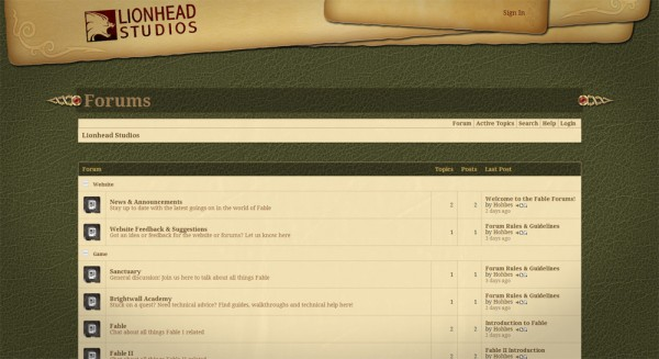 Lionhead-Fable-Forum-screen