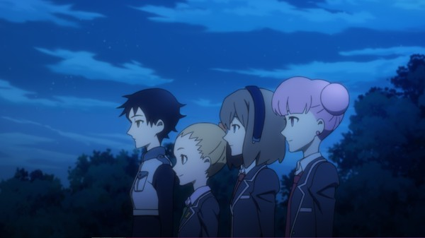 Our whole cast. From left to right: Kono, Mio, Hazuki and Yuko.