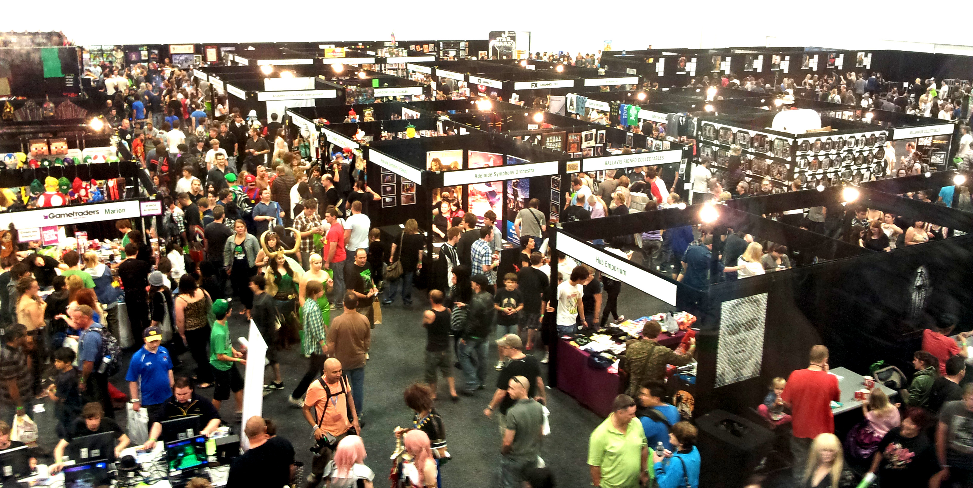 The show floor at the Adelaide Oz Comic-Con.