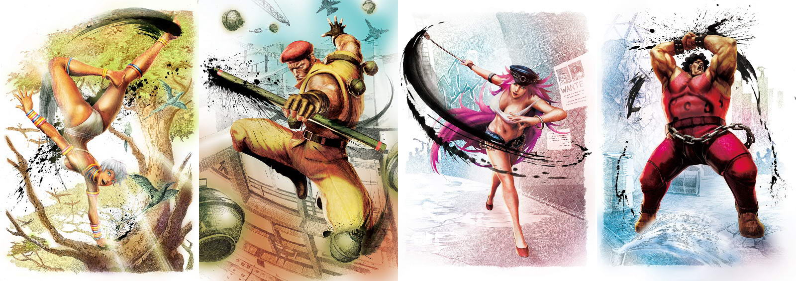 Ultra-Street-Fighter-IV-Elena-Rolento-Poison-Hugo-Official-Artwork