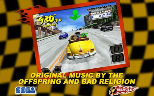 Crazy Taxi pulls up to the Android Google Play store