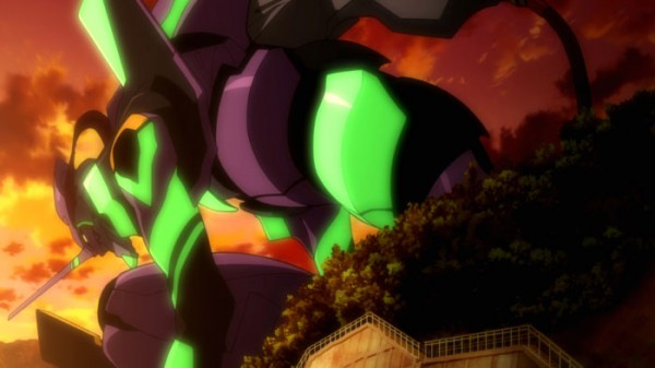 Eva Unit-01 getting ready to brawl!