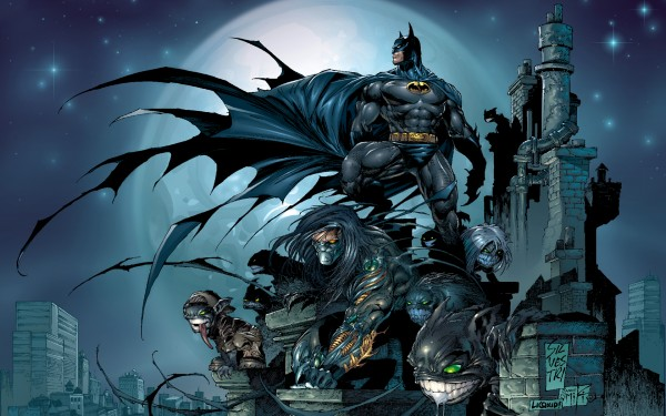 Jackie Estacado and Batman.
