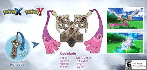 "New Pokemon Released For X and Y – ""Doublade"""