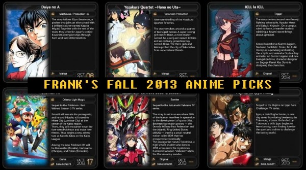 Frank's Fall 2013 Anime Picks