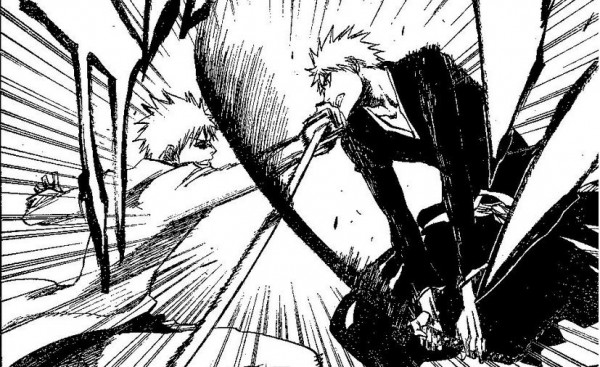 - Ichigo goes up against himself, Hollow Ichigo -