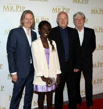 Director, Producer and screenwriter Andrew Adamson, Lead actress Xzannjah. Author of Mister Pip Lloyd Jones and Tim Finn, Original Music and Songs.
