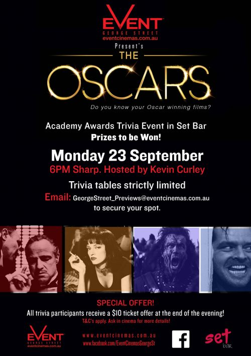 Event Cinemas George St. Presents The Oscars Trivia Event