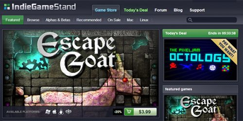 IndieGameStand Celebrates New Storefront with a Sale