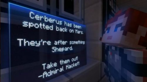 Minecraft Mashes Up with Mass Effect
