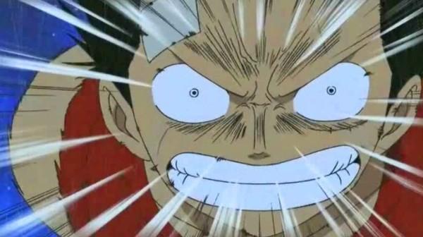 Luffy is a tsunami punching mood.