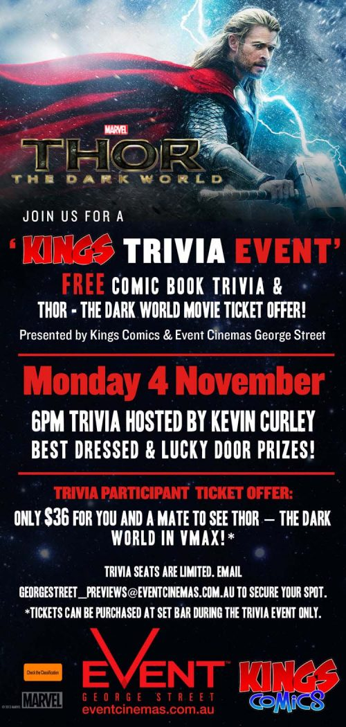Thor: The Dark World Trivia Night at EVENT Cinemas George St