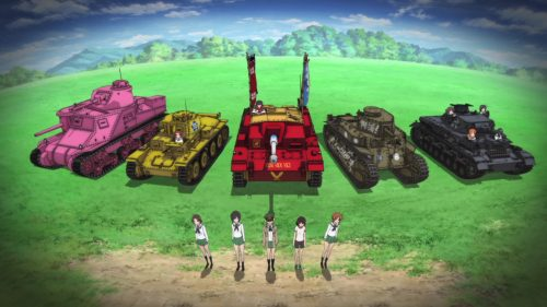 Girls Und Panzer Anime Licensed By Hanabee