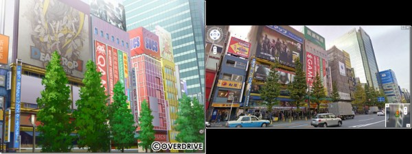 Akihabara (Game vs. Google Maps)