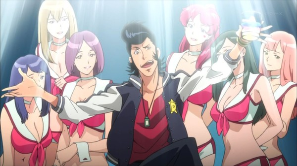 All these women and only 2 hands. The curse of being Space Dandy.