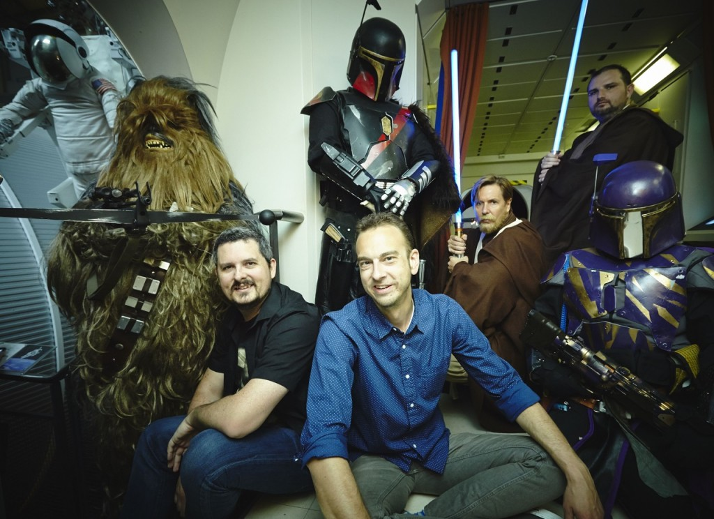 Rand Ratinac & Lance Fensterman with members of the Rebel Legion & Mandalorian Mercs (Geoffrey Sullivan, Cameron Smith, Shay Force, Ben Dumont & Kat Dockrill), Powerhouse Museum, photographer Shane Rozario.