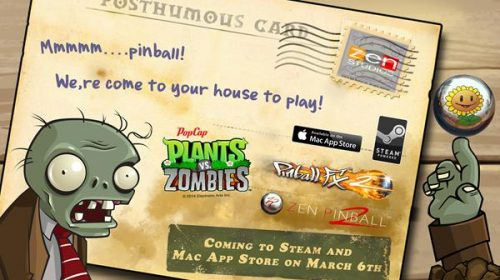 Plants vs. Zombies Pinball Coming to Steam and Mac App Store