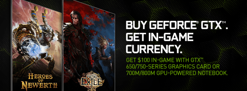 NVIDIA Bundling $100 Worth of In-game Currency with GeForce GPU and Notebook Purchases