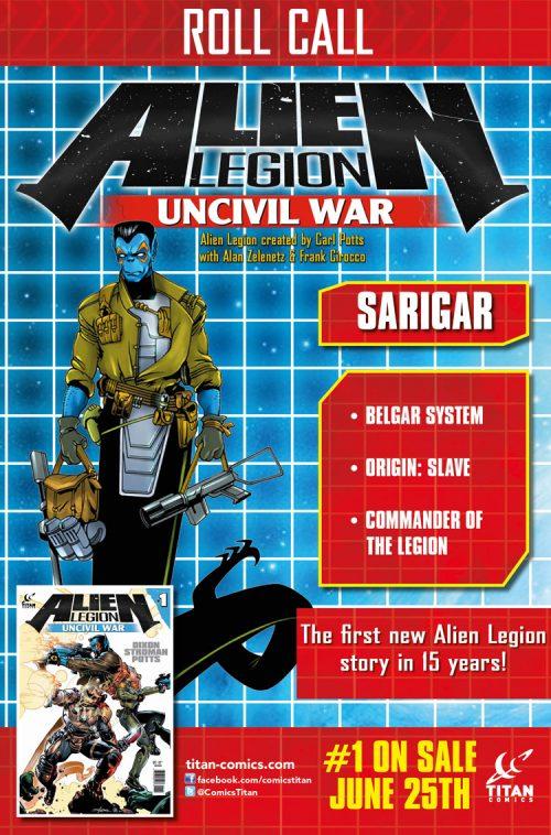 Alien Legion: Uncivil War #1 Out This Week