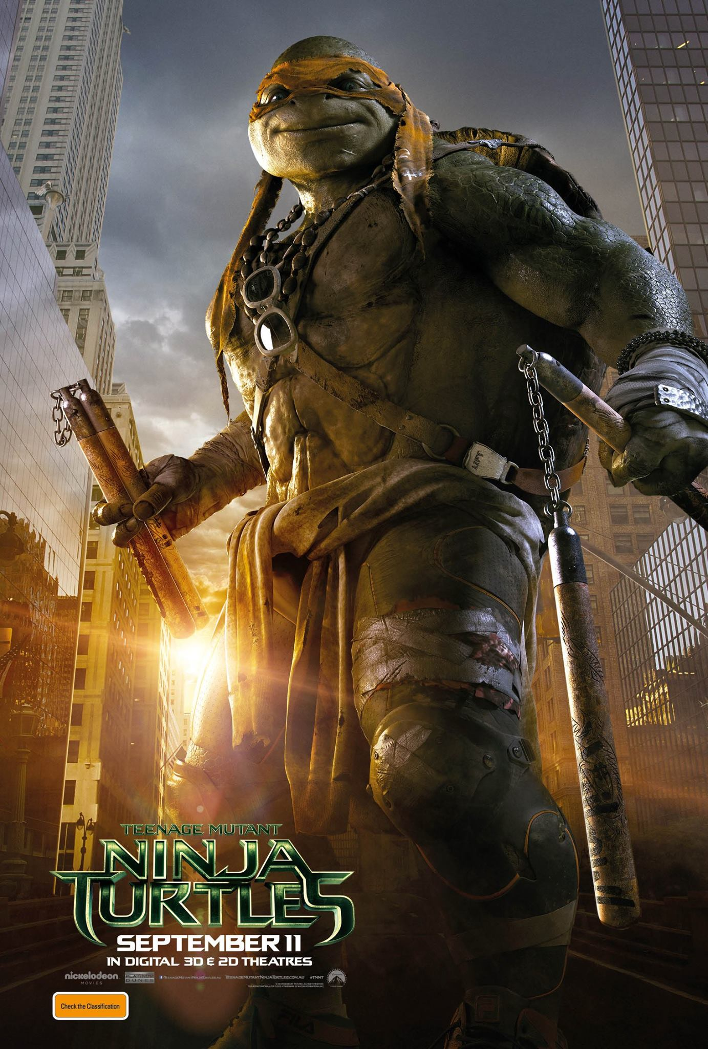 Teenage Mutant Ninja Turtles Poster Controversy: Paramount ... |Tmnt 2014 Poster 911