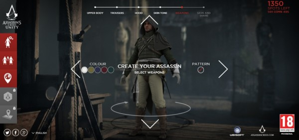 Design an Assassin to be Included in Assassin's Creed: Unity TV Spot ...