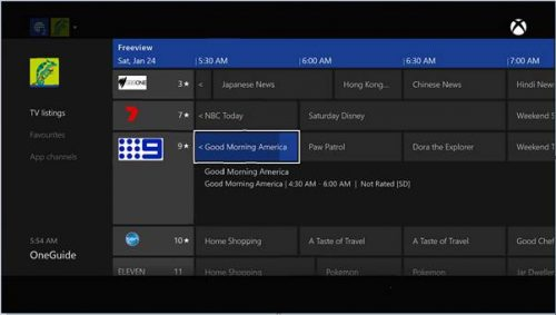 Microsoft Launches OneGuide in Australia