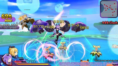 New set of Hyperdimension Neptunia U: Action Unleashed Screenshots Released